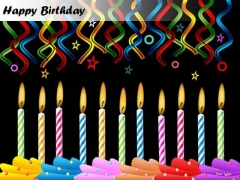 PowerPoint Templates Candles Happy Birthday Ppt Slide