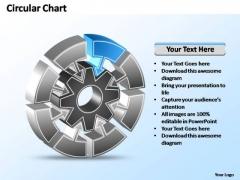 PowerPoint Templates Chart Interconnected Circular Chart Ppt Slides