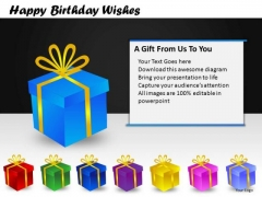 PowerPoint Templates Christmas Birthday Gifts Ppt Slides