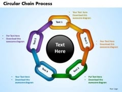 PowerPoint Templates Circular Chain Process Business Ppt Design