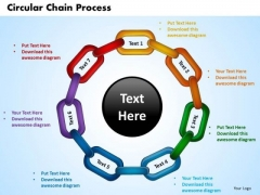 PowerPoint Templates Circular Chain Process Business Ppt Slide