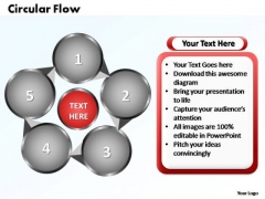 PowerPoint Templates Circular Flow Chart Ppt Layouts