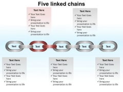 PowerPoint Templates Company Linked Chains Ppt Presentation