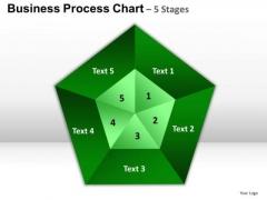 PowerPoint Templates Company Pentagon Pie Chart Ppt Design Slides