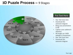 PowerPoint Templates Company Puzzle Segment Pie Chart Ppt Process