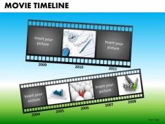 PowerPoint Templates Corporate Teamwork Movie Timeline Ppt Presentation Designs