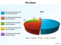 PowerPoint Templates Data Driven Pie Chart Ppt Themes