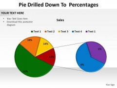 PowerPoint Templates Data Driven Pie Drilled Down Ppt Template