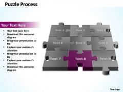 PowerPoint Templates Diagram 3d Puzzle Process Ppt Slide