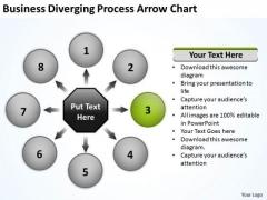 PowerPoint Templates Diverging Process Arrow Chart Ppt Target Network