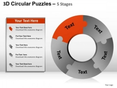 PowerPoint Templates Doughnut Chart Puzzle Ppt Themes