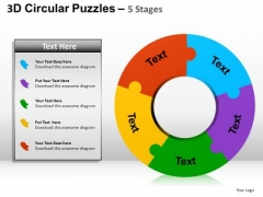 PowerPoint Templates Doughnut Diagram Puzzle Ppt Presentation