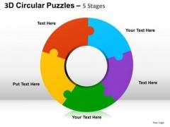 PowerPoint Templates Doughnut Diagram Puzzle Ppt Process