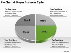 PowerPoint Templates Download Cycle Business Plan Example