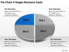 PowerPoint Templates Download Cycle Business Plan For Non Profit