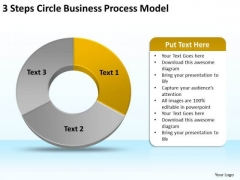 PowerPoint Templates Download Process Model Blank Business Plan Slides