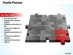 PowerPoint Templates Editable 3d Puzzle Process Ppt Slides