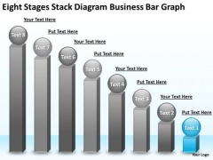 PowerPoint Templates Free Download Bar Graph Business Plan Structure