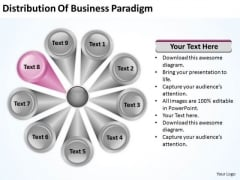 PowerPoint Templates Free Download Paradigm 9 Stages Business Plan Slides
