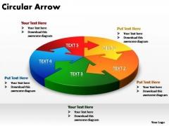PowerPoint Templates Global Circular Arrow Ppt Slide