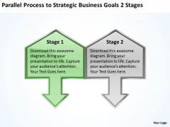 PowerPoint Templates Goals 2 Stages Business Development Plan