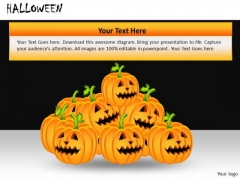 PowerPoint Templates Halloween Carved Pumpkins Ppt Slides