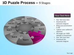 PowerPoint Templates Image Puzzle Segment Pie Chart Ppt Themes
