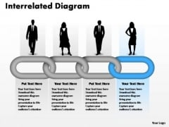 PowerPoint Templates Leadership Interrelated Concepts Chain Diagram Ppt Process
