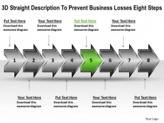 PowerPoint Templates Losses Eight Steps Online Flow Chart Maker