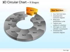 PowerPoint Templates Marketing Circular Chart Ppt Slides