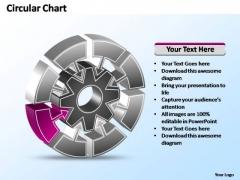 PowerPoint Templates Marketing Interconnected Circular Chart Ppt Slide