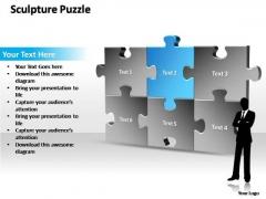 PowerPoint Templates Marketing Sculpture Puzzle Ppt Slides
