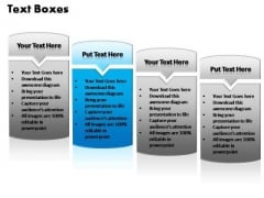PowerPoint Templates Marketing Text Boxes Ppt Process