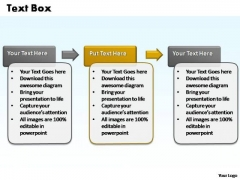 PowerPoint Templates Process 3 Steps Text Box Ppt Process