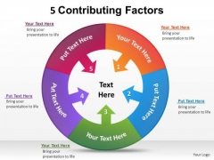PowerPoint Templates Process Contributing Factors Ppt Theme