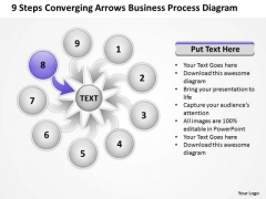 PowerPoint Templates Process Diagram Circular Flow Network
