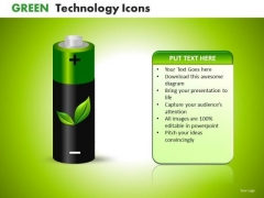 PowerPoint Templates Rechargeable Batteries Environmetally Friendly Ppt Slides