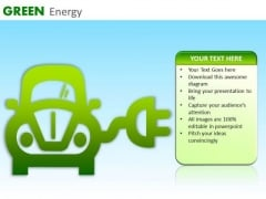 PowerPoint Templates Recharging Electric Car Ppt Slides