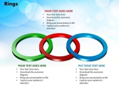 PowerPoint Templates Rings Sales Ppt Slides
