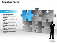 PowerPoint Templates Sale Sculpture Puzzle Ppt Slides