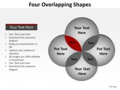 PowerPoint Templates Sales Four Overlapping Ppt Design