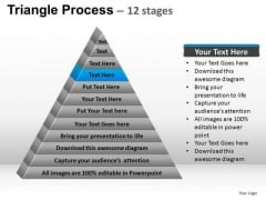 PowerPoint Templates Sales Triangle Process Ppt Slides