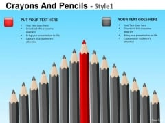 PowerPoint Templates Sharpest Pencils Crayons Ppt Slides