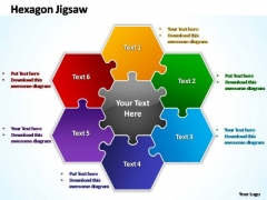 PowerPoint Templates Strategy Hexagon Jigsaw Ppt Themes