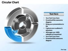 PowerPoint Templates Strategy Interconnected Circular Chart Ppt Layout