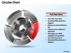 PowerPoint Templates Strategy Interconnected Circular Chart Ppt Slide