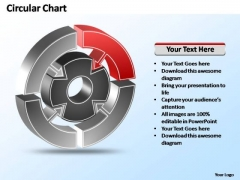 PowerPoint Templates Strategy Interconnected Circular Chart Ppt Theme