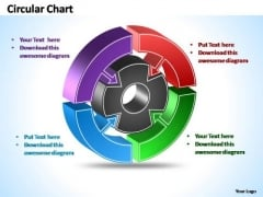 PowerPoint Templates Strategy Interconnected Circular Chart Themes