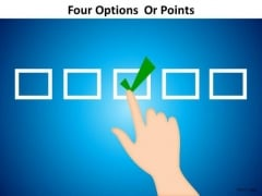 PowerPoint Templates Success Four Options Ppt Slides