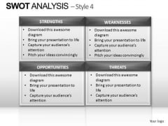 PowerPoint Templates Teamwork Swot Analysis Ppt Presentation